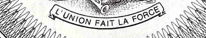 closeup detail of Haiti 1 Gourde Banknote, Year 1989  back