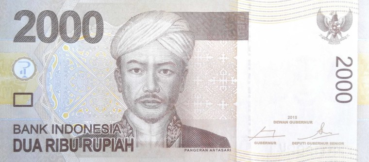 Indonesia 2000 Rupiah Banknote, Year 2015 -  front