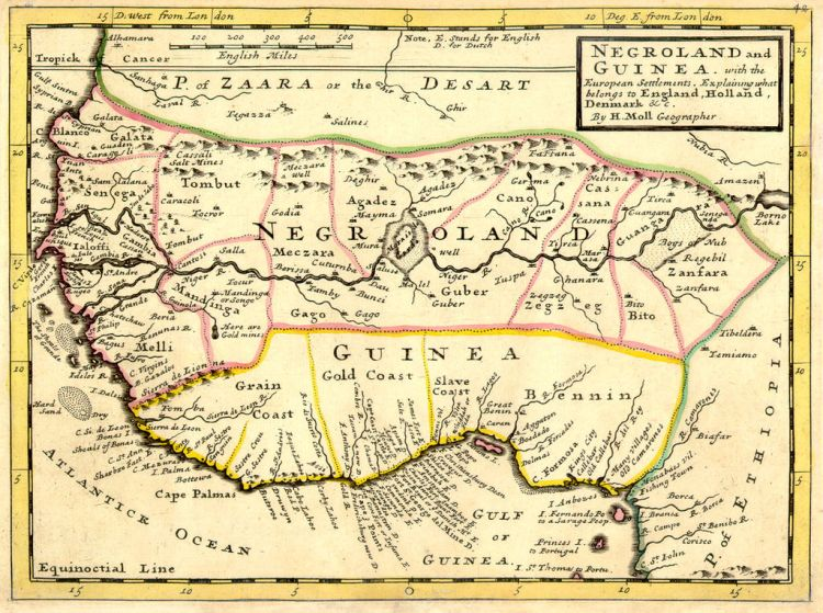 map of Guinea togo and slave coast 2