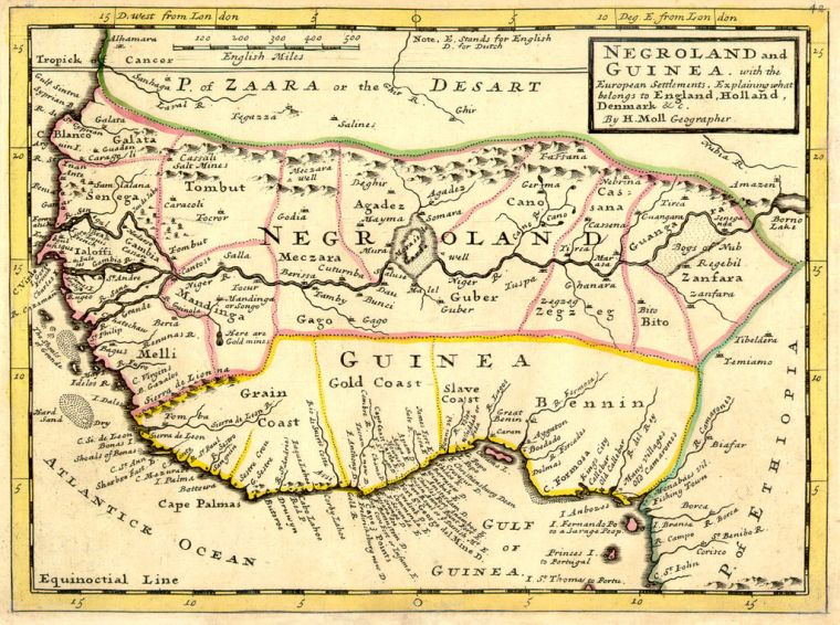 map of Guinea togo and slave coast 2