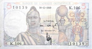 Senegal French West Africa 19xx 5 front