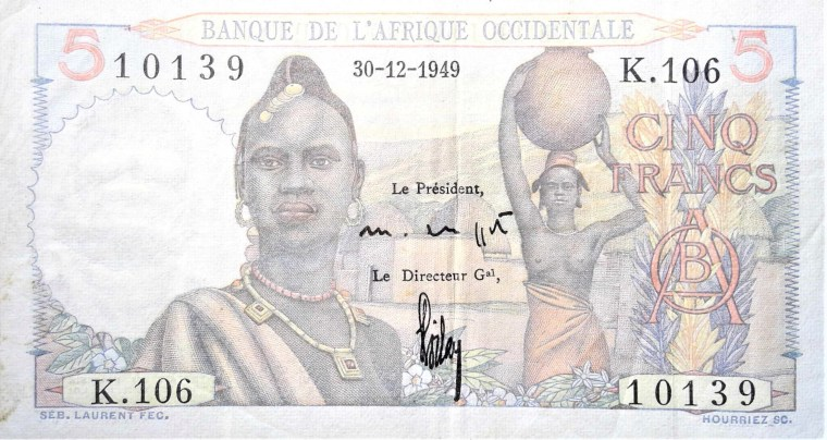 French West Africa 19xx 5 front