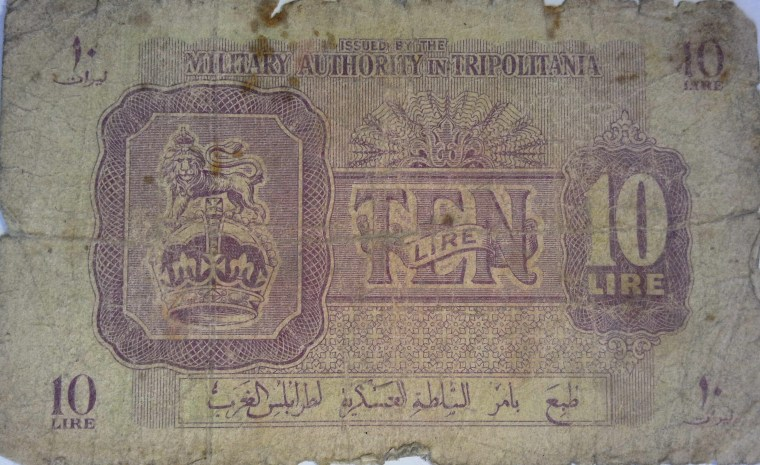 Libya Tripolitania - 10 Lire banknote year 1943