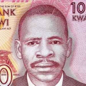Malawi 100 Kwacha 2014 banknote front (2) James Frederick Sangala, nicknamed Pyagusi by his people, One Who Perseveres