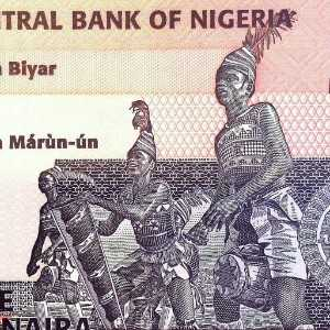 Nigeria 5 Naira 2015 banknote back (2), featuring Nkpokiti Drummers