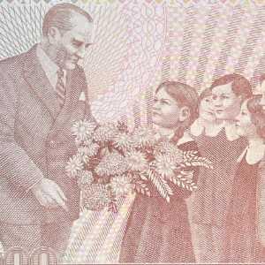 Turkey 100000 Lira 1970 banknote back (2)
