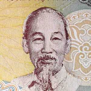Vietnam 1000 Dong 1988 banknote front (2), featuring portrait of Ho Chi Minh