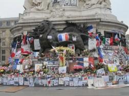 Place de la Republiqque, floral tributes, Paris, France, travel, terrorist attacks