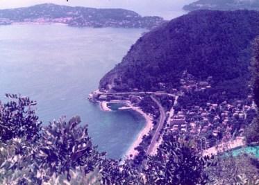 St. Jean Cap Ferrat, France viewed from Eze Village.