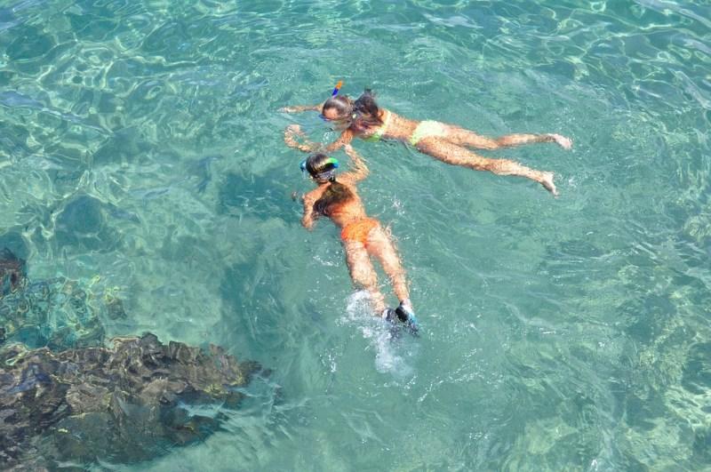children learning dive