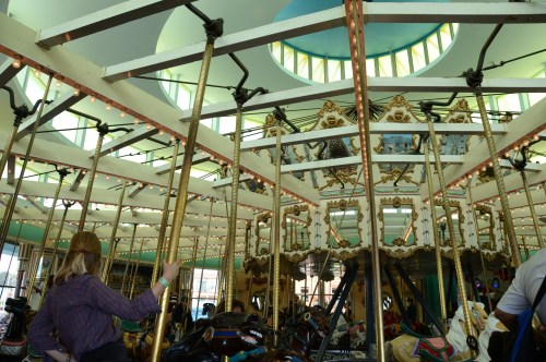 The whole carousel, hard to believe how old this structure is...