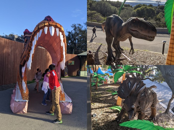 Dinosaurs at the Oakland Zoo