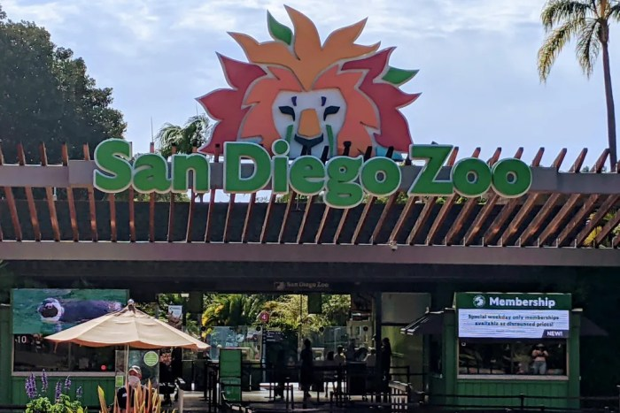 San Diego Zoo Entrance Sign