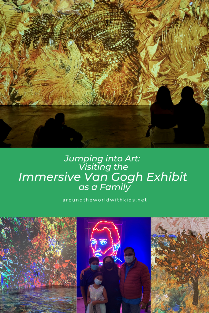 Jumping into Art:  Visiting the Immersive Van Gogh Exhibit as a Family