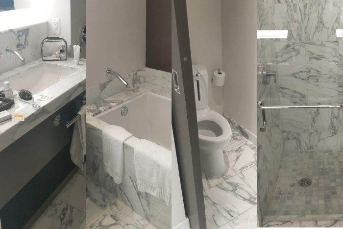 The bathrooms at the Red Rocks Resort