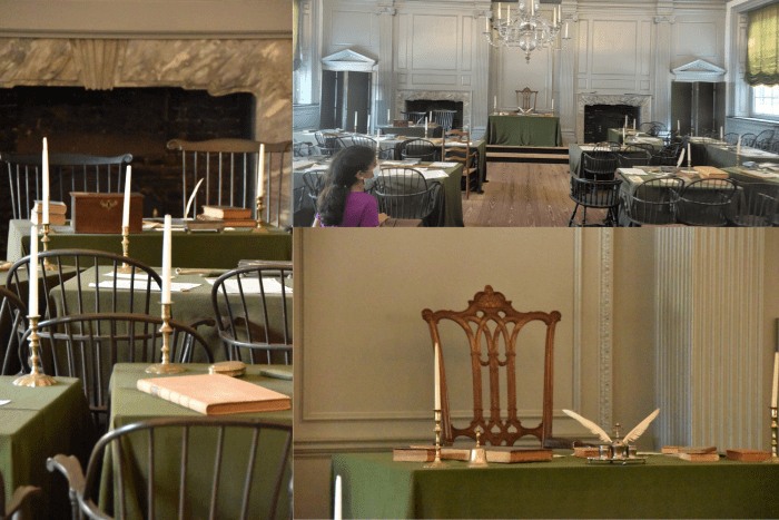 A selection of pictures from the Assembly Room in Independence Hall