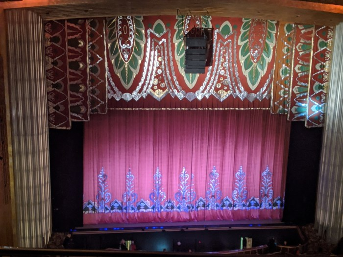The stage at the Paramount Theater