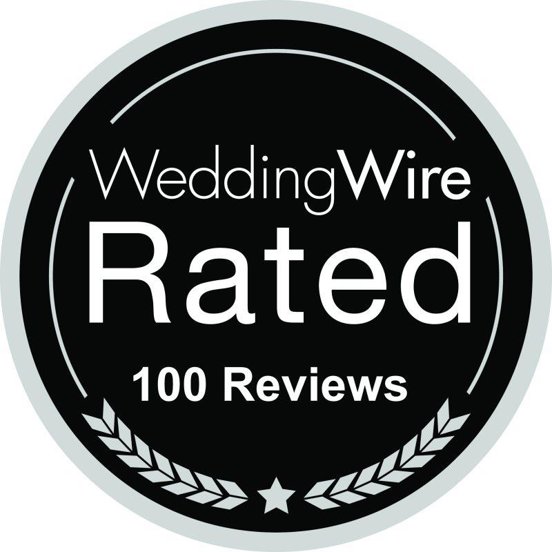 Wedding Wire 100 Reviews Logo