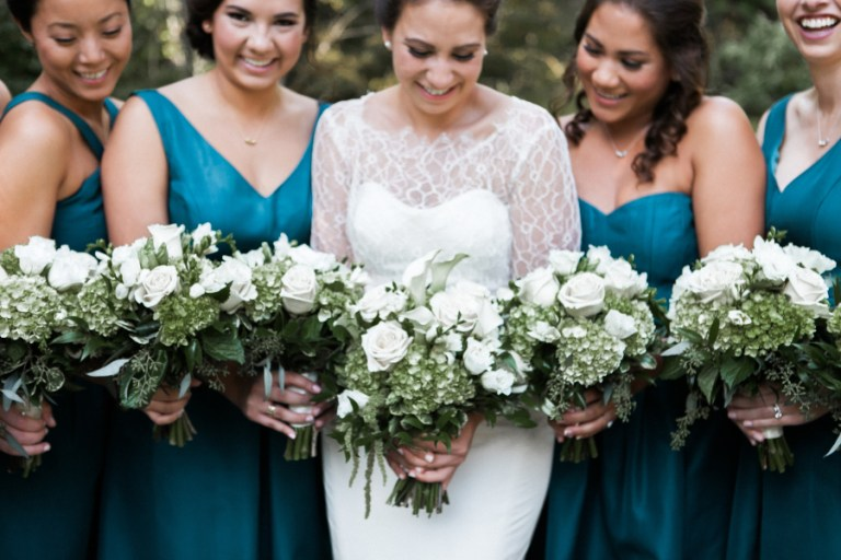 Teal Ivory Gold Connecticut Wedding