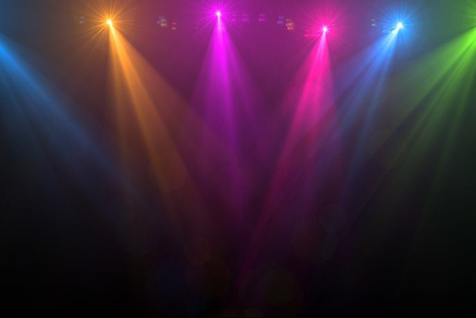 Dramatic stage lights