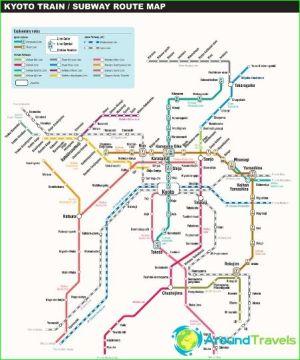 Subway Kyoto: diagram, description, photos Map Kyoto
