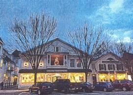 Main Street Stockbridge at Night