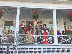 Londontown Carolers on Porch of Red Lion Inn