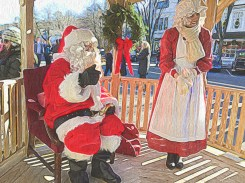 Mr and Mrs Santa Await Their Guests
