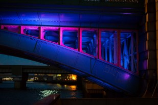 Night photography in London, England