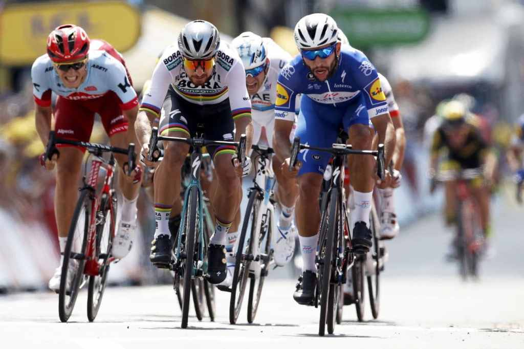 Llegada de Fernando Gaviria en el Tour de Francia 2018