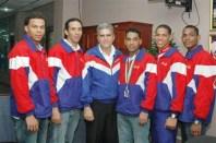 Desde la izquierda, Euri Vidal, Jorge Pérez, Juan Luis Rodríguez, Wendy Cruz, Rafael Merán y Augusto Sánchez
