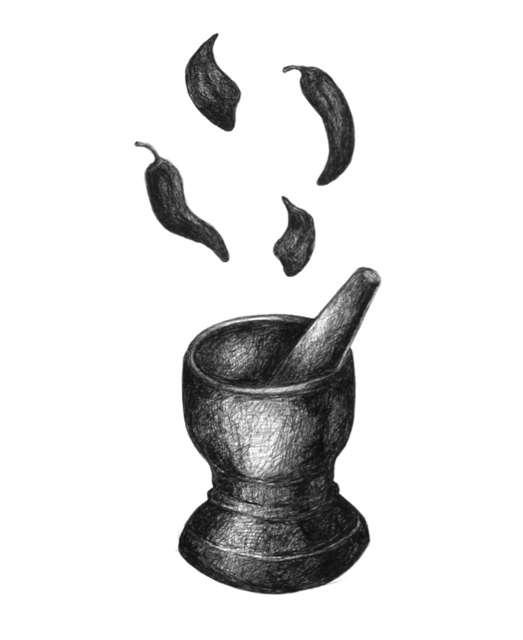 Aroy Logo - Thai Chili Mortar and Pestle