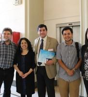Patricio Felmer, Director ARPA; Maribel Mora, Directora de la Oficina de Equidad e Inclusión de VAEC; Aureliano Ruiz; Directivos establecimientos PACE-UCH