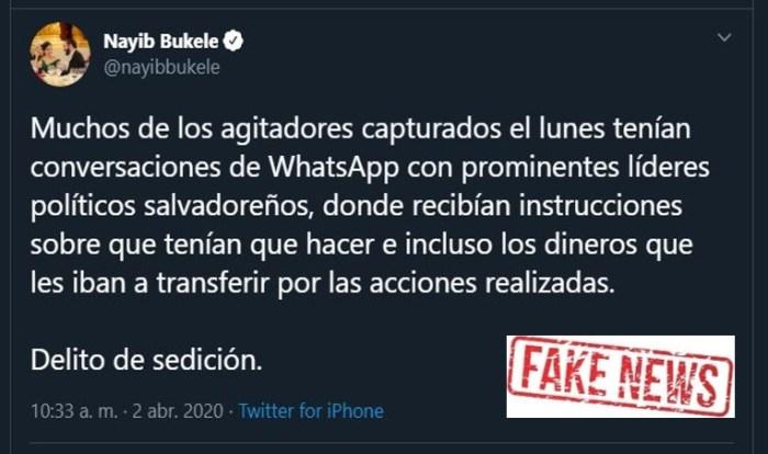 Las Fake News Del Presidente Bukele Arpas