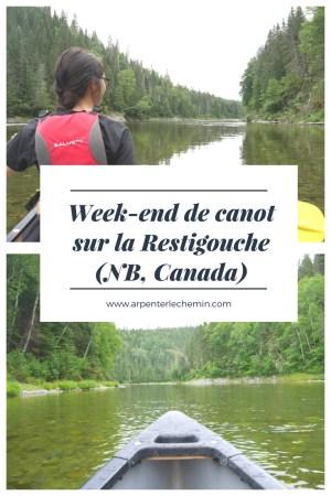 canot canoe restigouche nouveau-brunswick canada blog voyage arpenter le chemin