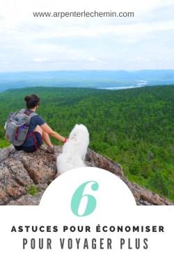 astuces pour économiser et voyager plus Arpenter le chemin blog voyage (1)