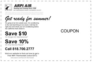 air conditioning service savings coupon