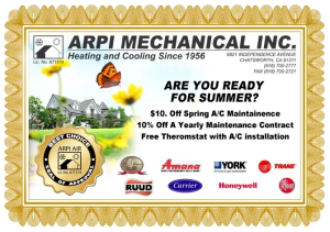 savings coupon for spring service call