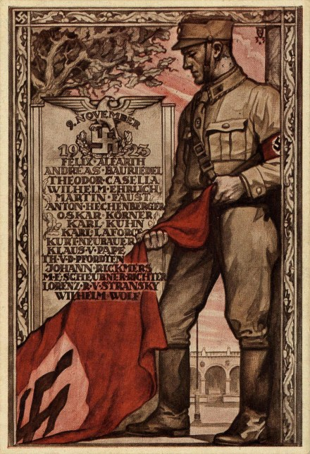HitlerPutsch_Commemorative_Postcard