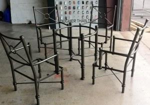 Bronze Patio Set powder coated