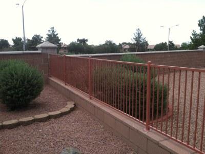 Powder Coated Wrought Iron Fence