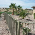 powder coated fence on rental property