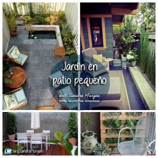 Área de jardín en patio pequeño