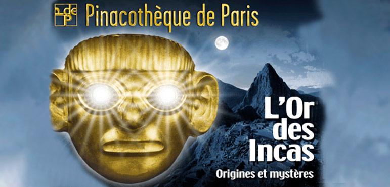 Exhibicion de objetos de oro del Imperio Inca en Paris, Francia