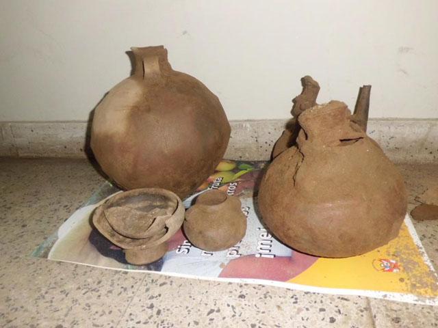 Hallan cerámicas de cultura Chimú durante obras de saneamiento en Casma, Ancash, Perú