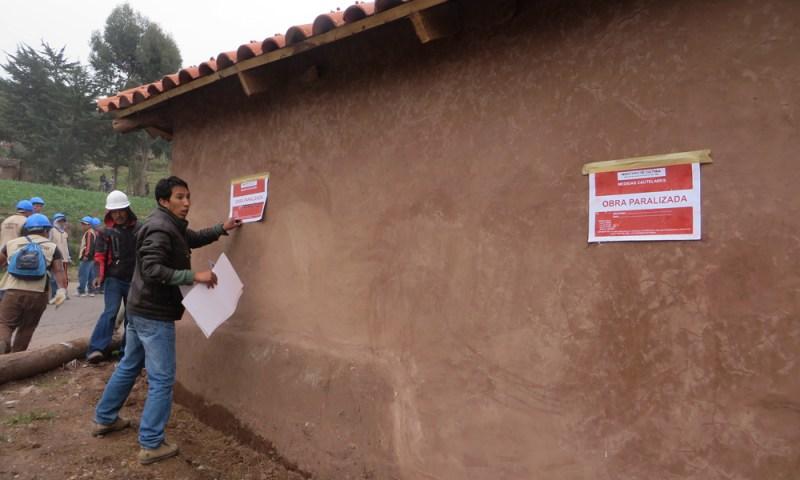 Paralizan construcción clandestina en zona reservada del parque arqueológico de Saqsaywaman