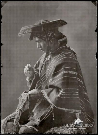 Fotos de estudio Martin Chambi Indio mascando coca