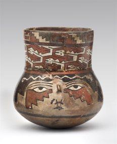 Recipiente Recipiente de cerámica de la cultura nazca (200 a.C.-650 d.C.). Foto: Museo de Arte de Lima. Donación Memoria Prado