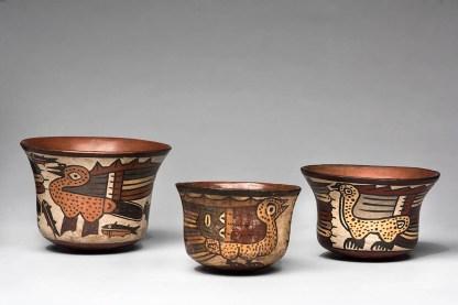 Vasos Vasos de cerámica nazca (200 a.C.-650 d.C.). Foto: Museo de Arte de Lima. Donación Memoria Prado