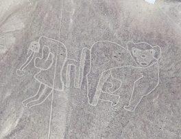 Mono Figura de un mono en Yunama, en la provincia de Palpa. Foto: Luis Jaime Castillo